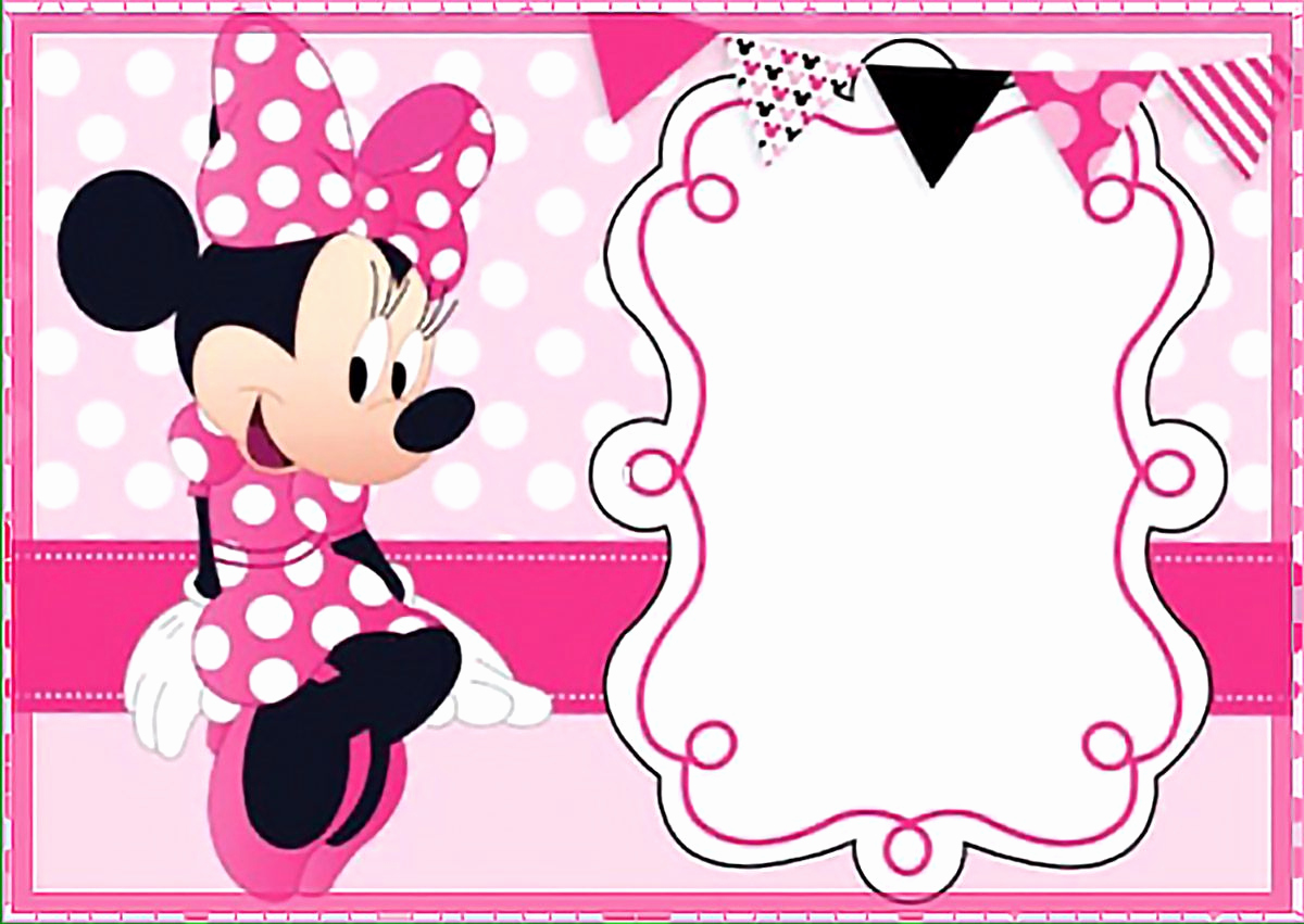 Minnie Mouse Invitation Wording New Printable Minnie Mouse Birthday Party Invitation Template