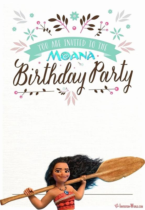 Moana Birthday Invitation Template Elegant 7 Moana Invitation Templates – Free and Printable