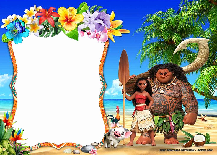Moana Birthday Invitation Template Elegant Free Printable Moana Invitation Party