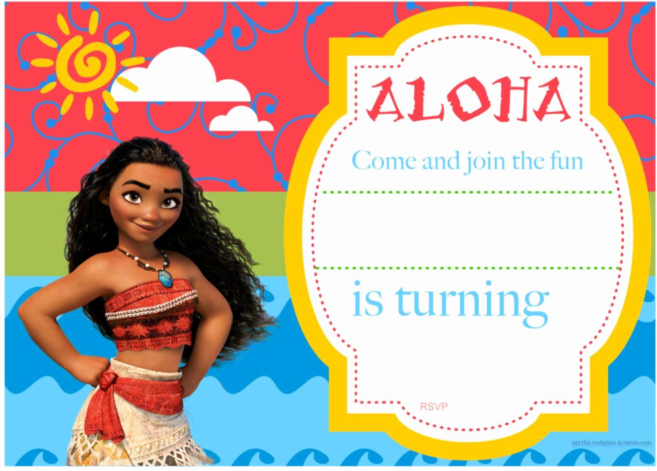 Moana Birthday Invitation Template Inspirational Free Printable Moana Birthday Invitation and Party