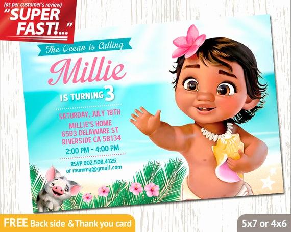 Moana Birthday Invitation Template Inspirational Moana Invitation Printable Moana Birthday Invitation Moana