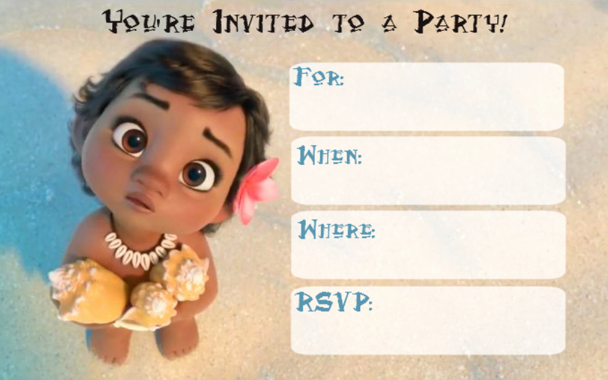 Moana Birthday Invitation Template Lovely Free Printable Moana Invitation for Girl – Baby Shower and