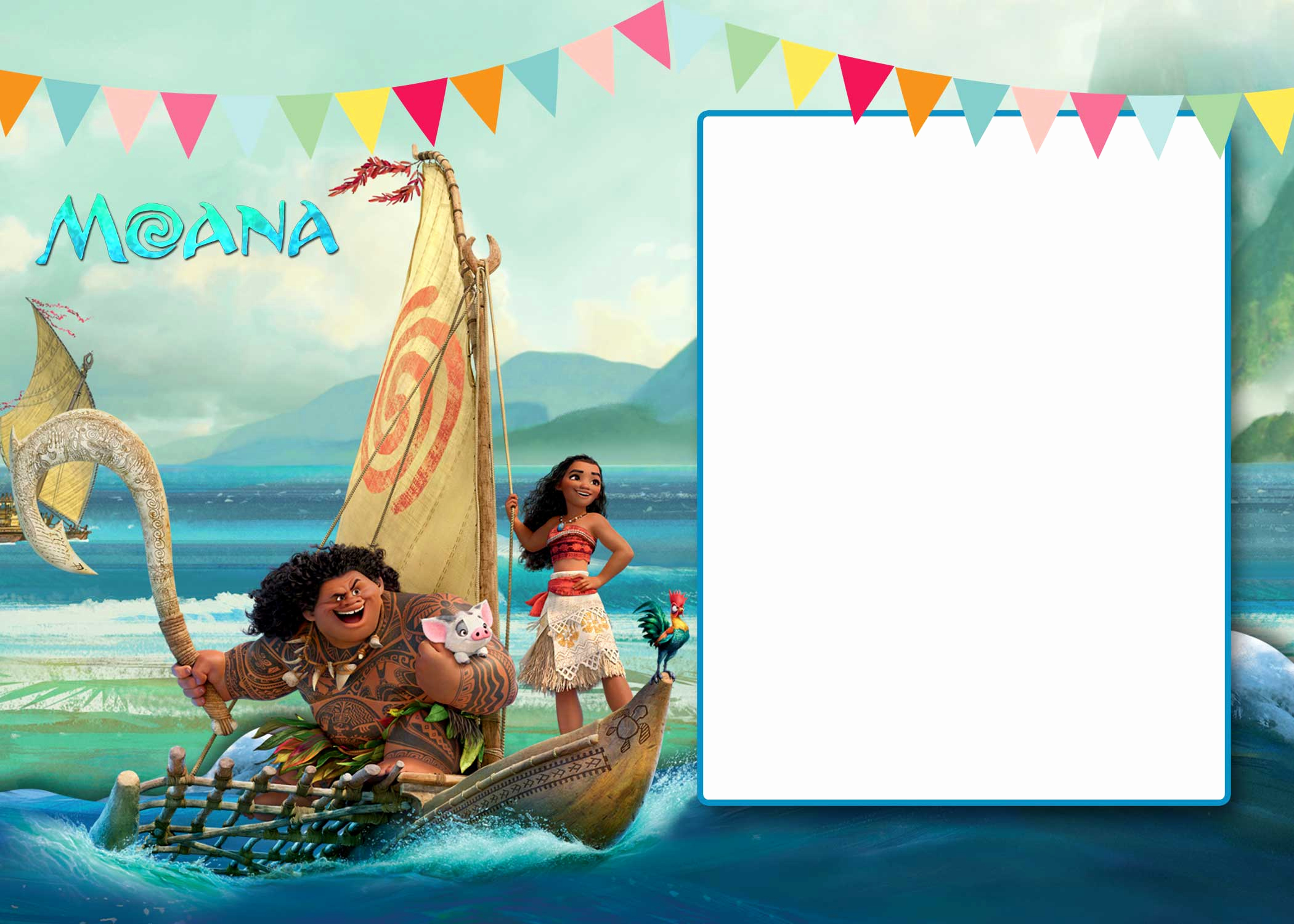 Moana Birthday Invitation Template Luxury Free Moana Baby Shower Invitation Template