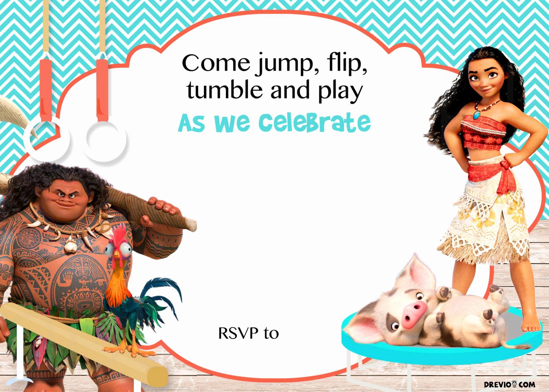 Moana Birthday Invitation Template Unique Free Moana Birthday Invitation Template Free Invitation