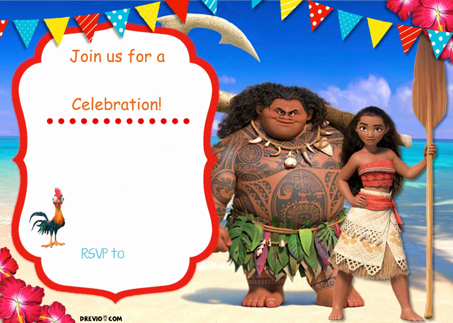 Moana Invitation Template Free Awesome Free Moana Birthday Invitation