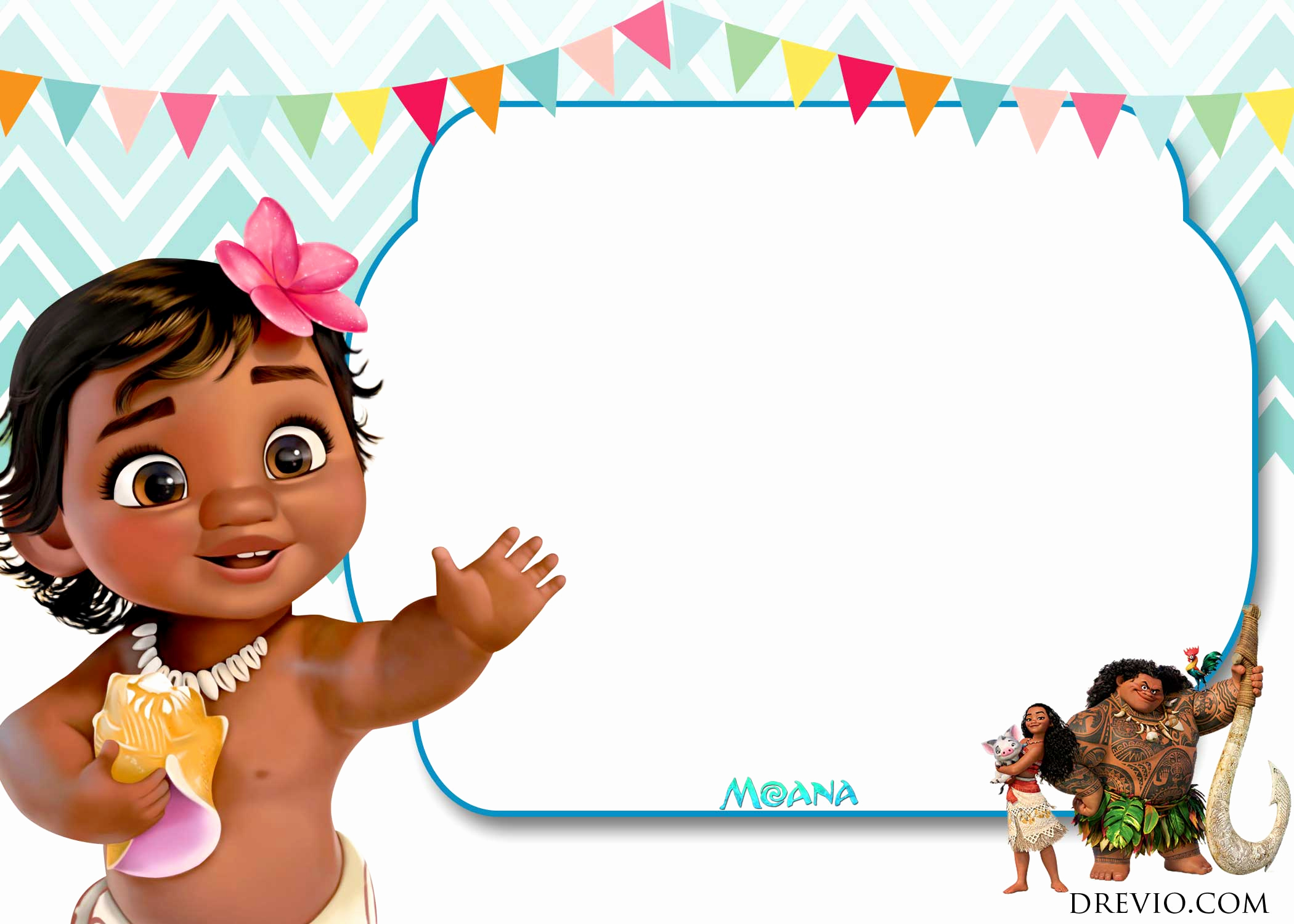 Moana Invitation Template Free Beautiful Free Moana Birthday Invitation Template Free Invitation