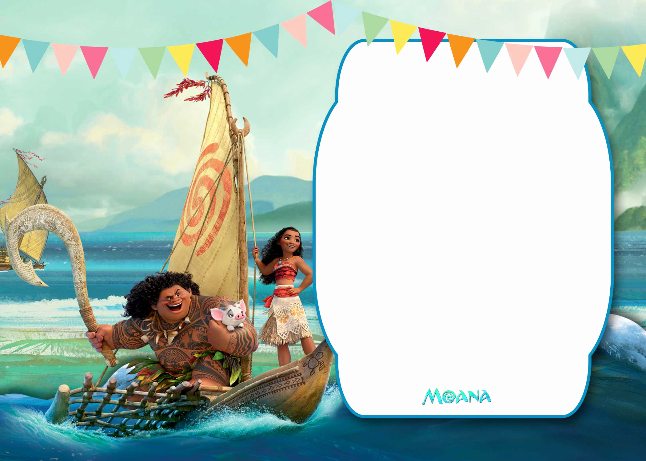Moana Invitation Template Free Beautiful Free Printable Moana 1st Invitation Template – Bagvania