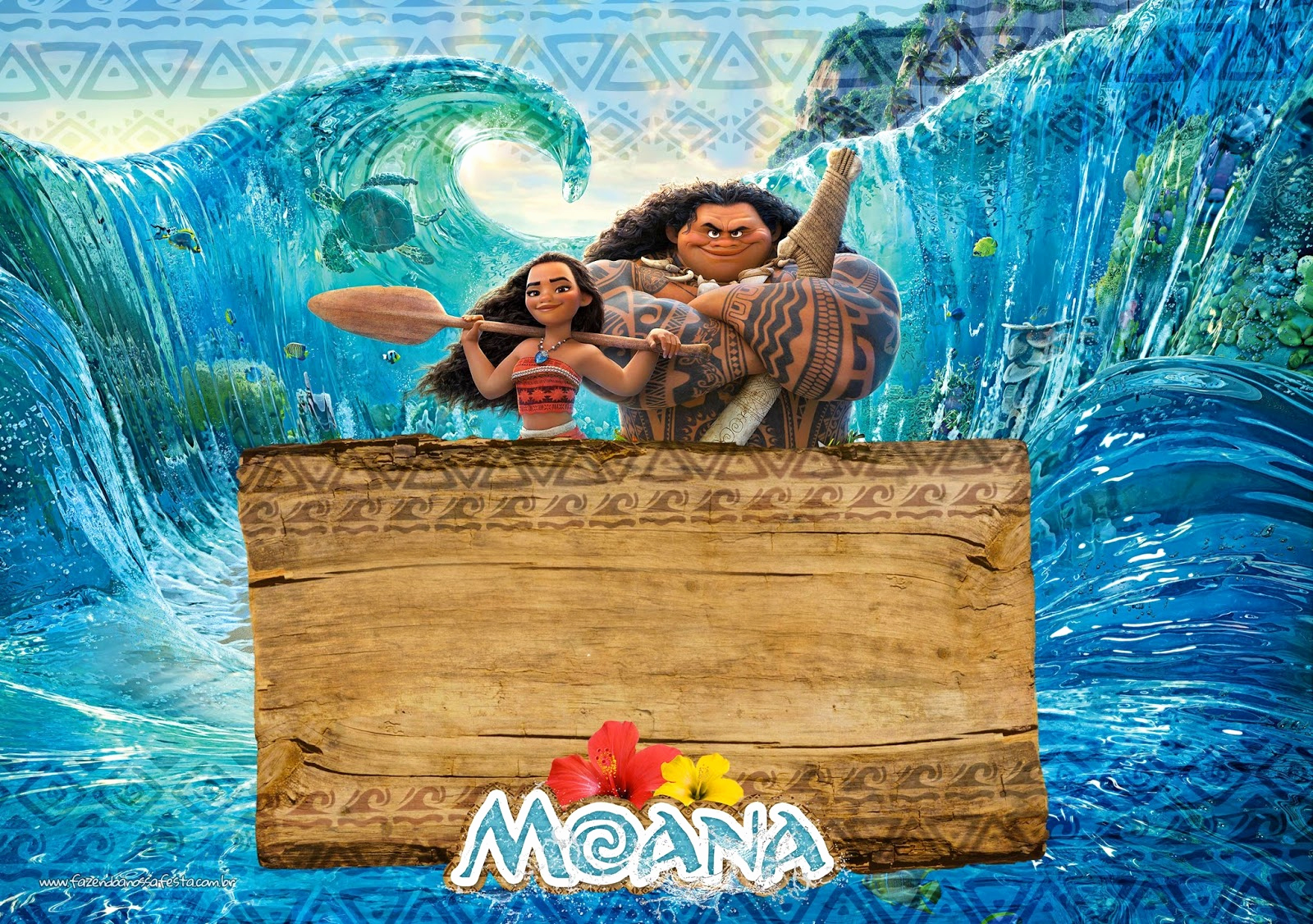 Moana Invitation Template Free Beautiful Moana Free Printable Invitations