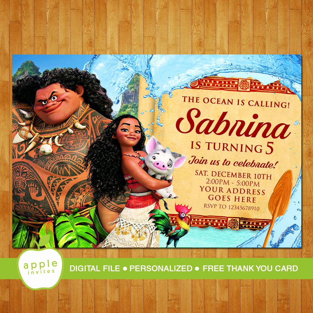 Moana Invitation Template Free Beautiful Moana Invitation Moana Party Moana Birthday Moana Free
