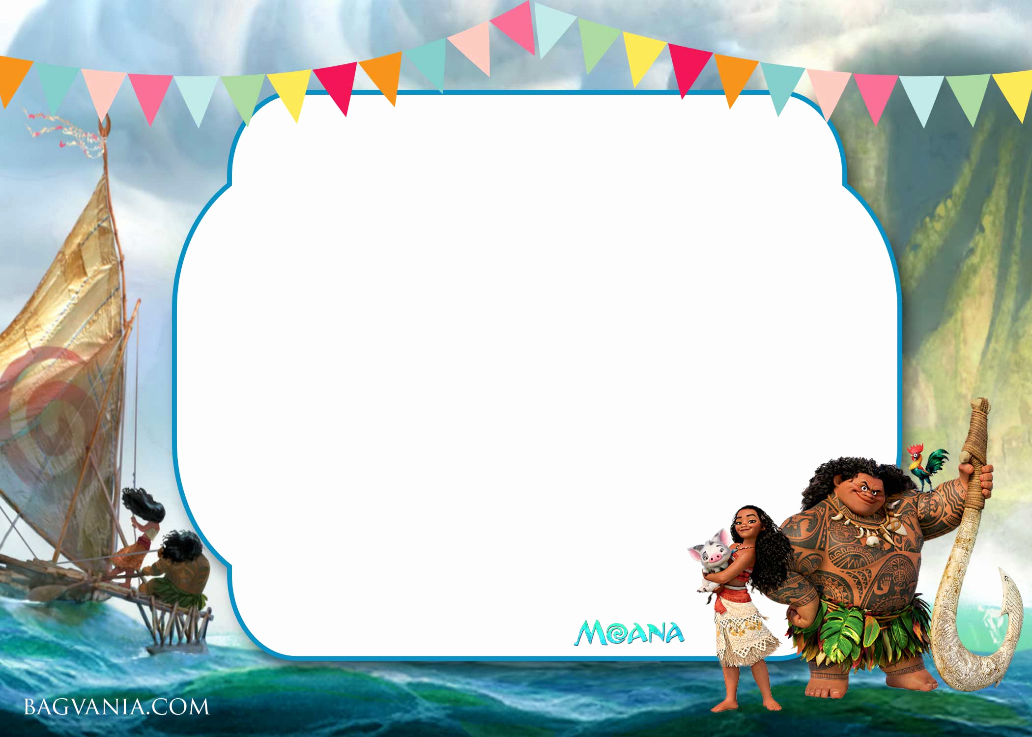 Moana Invitation Template Free Fresh Free Moana Birthday Invitation Template Free Invitation