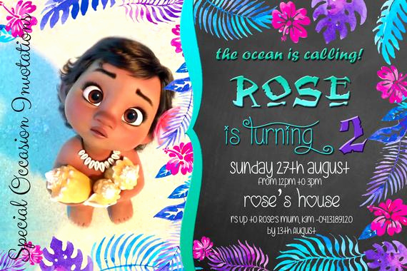 Moana Invitation Template Free Fresh Items Similar to Disney Baby Moana Birthday Invitation 4