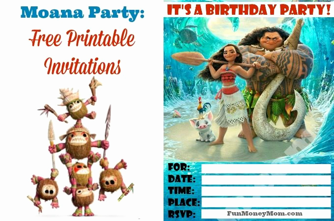 Moana Invitation Template Free Fresh Moana Goody Bags with Heart Te Fiti Cookies Fun Money Mom