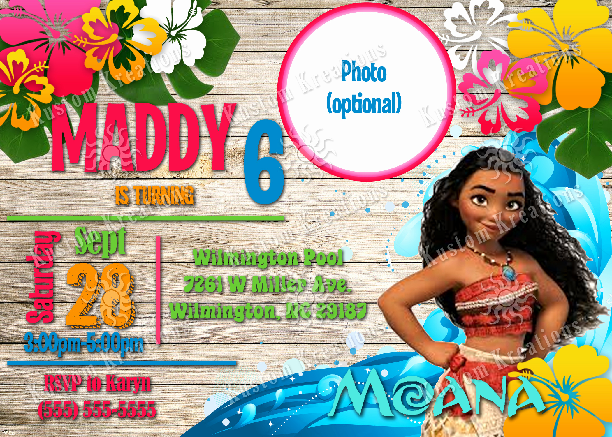 Moana Invitation Template Free Lovely Moana Birthday Invitations