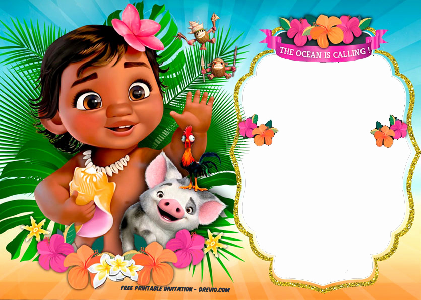 Moana Invitation Template Free New Free Moana Birthday Invitation Template Free Invitation
