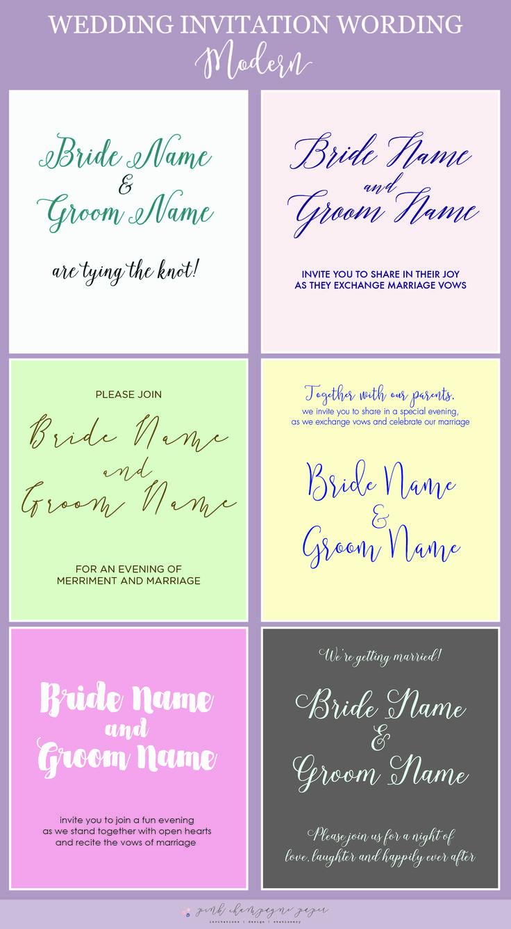 Modern Wedding Invitation Wording Inspirational Best 25 Modern Wedding Invitation Wording Ideas On