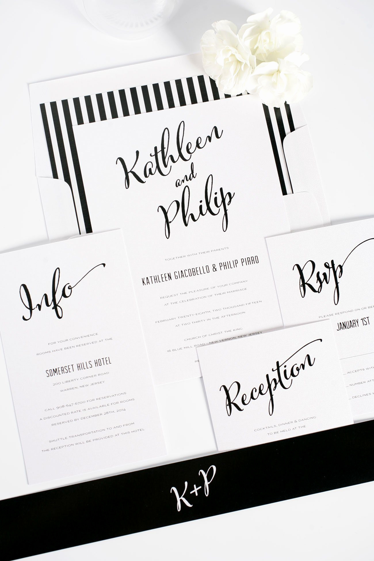 Modern Wedding Invitation Wording Inspirational Modern Calligraphy Wedding Invitations In Black and White