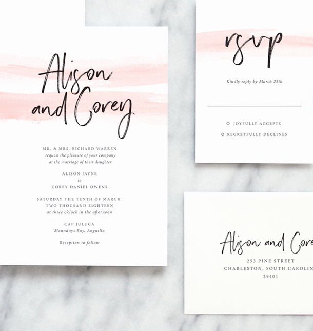 Modern Wedding Invitation Wording Inspirational Wedding Invitation Wording Fine Day Press