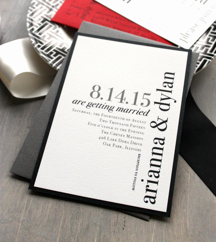 Modern Wedding Invitation Wording Lovely Modern Wedding Invitations Wedding Invitation Urban Chic