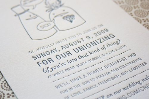 Modern Wedding Invitation Wording Lovely Modern Wedding or Unionizing Invitations