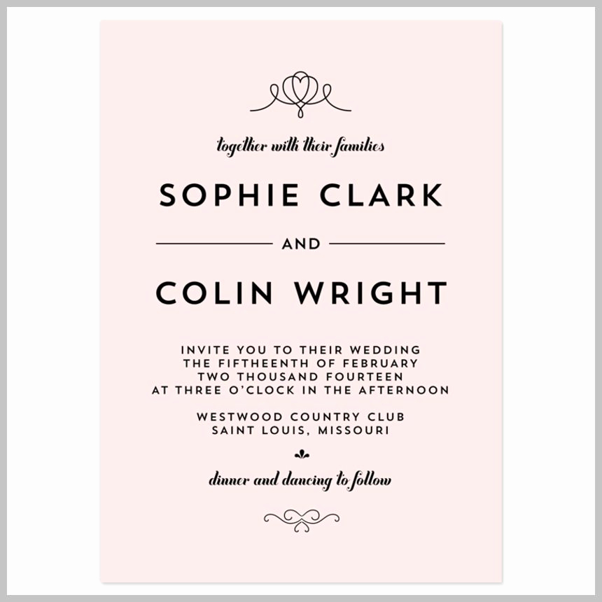 Modern Wedding Invitation Wording Luxury Wedding Invitation Wording Wedding Invitation Etiquette