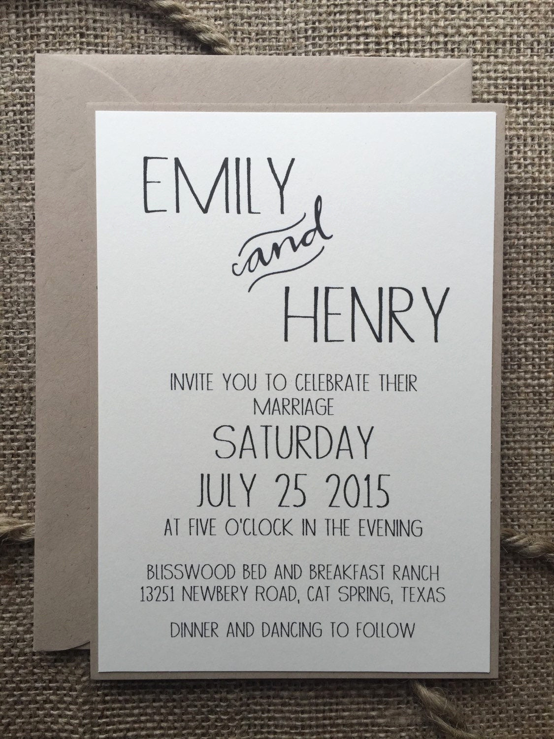 Modern Wedding Invitation Wording Unique Rustic Modern Wedding Invitation Elegant & Simple