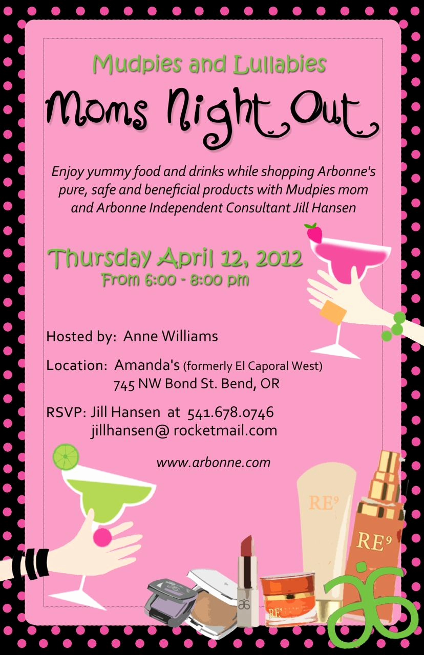 Moms Night Out Invitation Elegant Arbonne Invitations