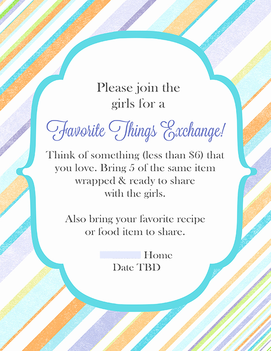 Moms Night Out Invitation Elegant Cute Favorite Things Party Invitation Idea