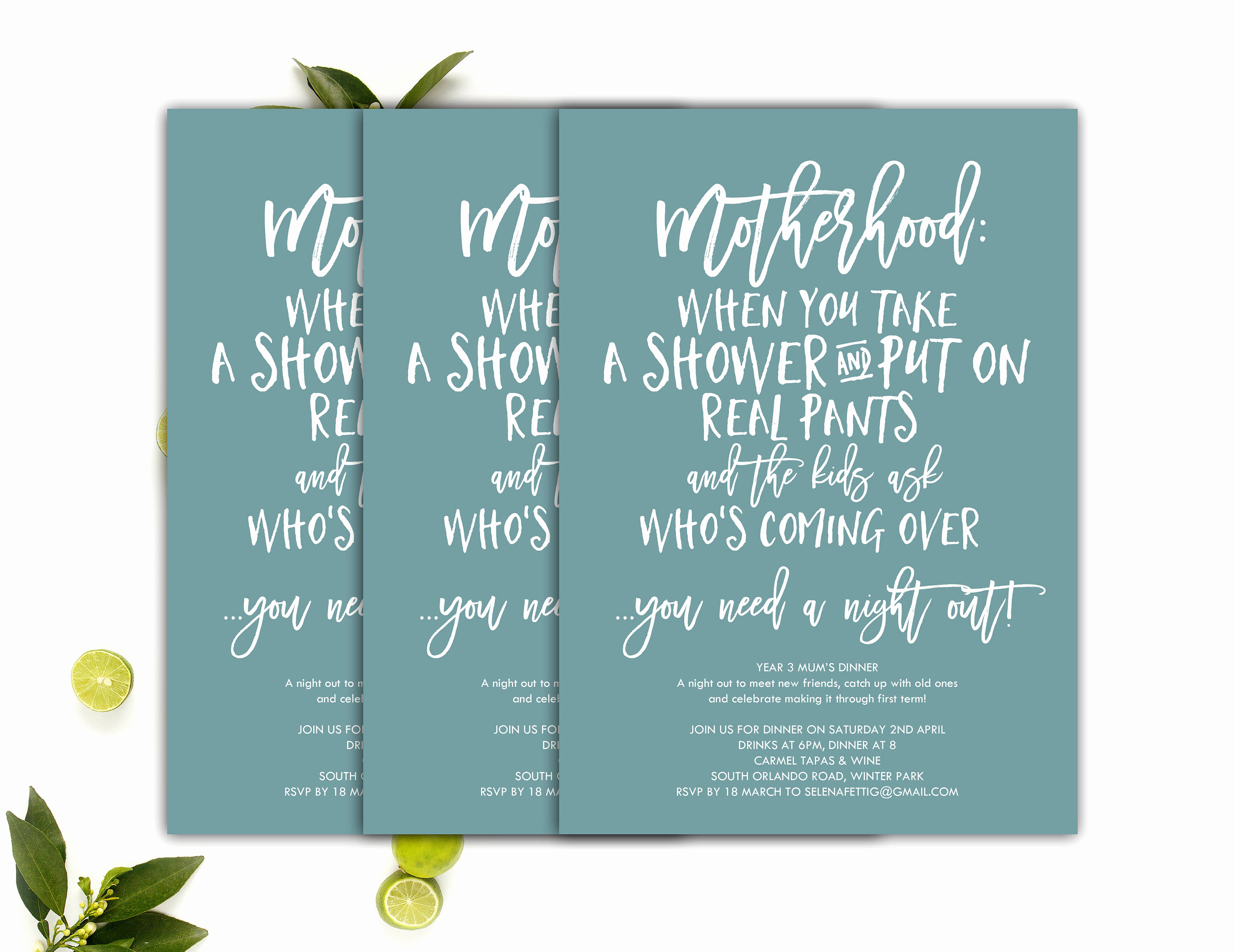 Moms Night Out Invitation Inspirational Moms Night Out Invitation Moms Night In 5x7 Printable