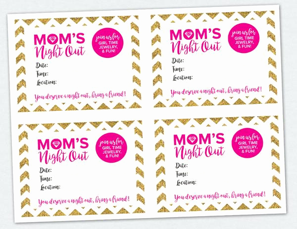 Moms Night Out Invitation New Mom S Night Out Invite Digital Download – Penny Lacey