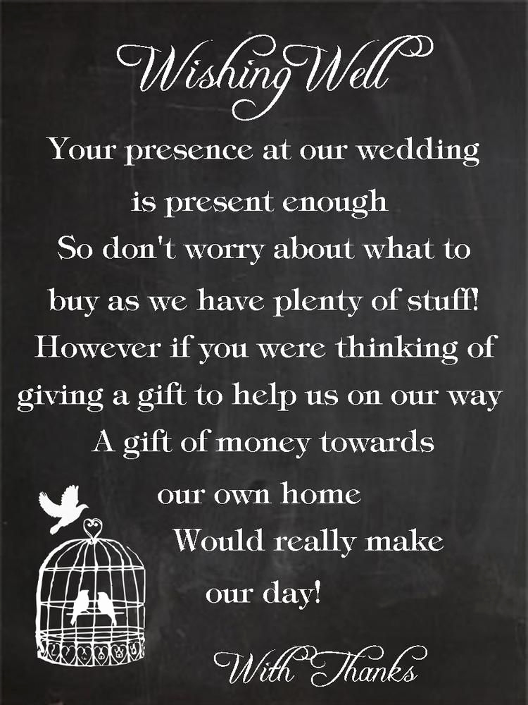 Money Tree Invitation Wording Fresh 50 X Wishing Well Cards Birdcage Chalkboard