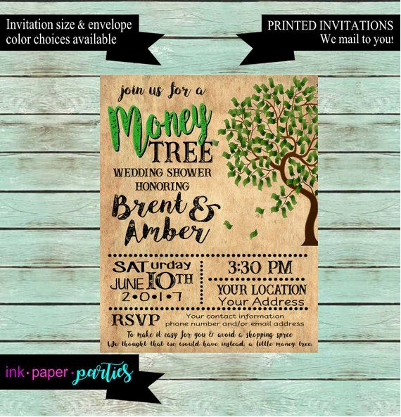 Money Tree Invitation Wording Unique Money Tree Wishing Well Bridal Couples Wedding Shower