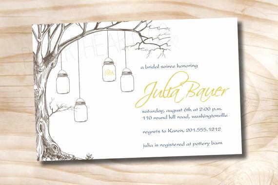 Money Tree Shower Invitation Wording New 50 Printed with Envelopes Vintage Tree Mason Jar Bridal
