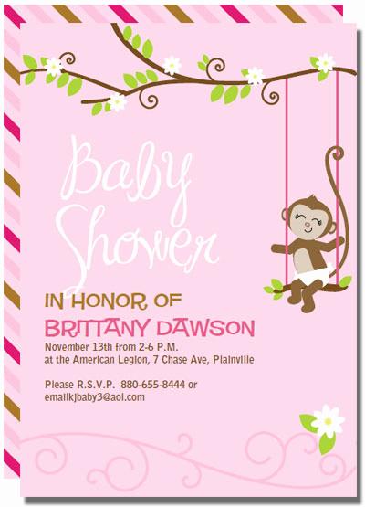 Monkey Baby Shower Invitation Awesome Printable Monkey Baby Shower Invitations Templates