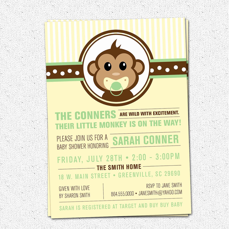 Monkey Baby Shower Invitation Inspirational Little Monkey Baby Shower Invitation Printable Modern