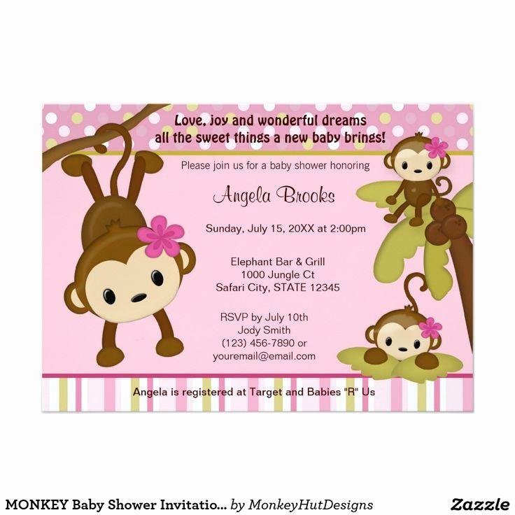 Monkey Baby Shower Invitation Inspirational Monkey Baby Shower Invitation 3 Little Monkeys