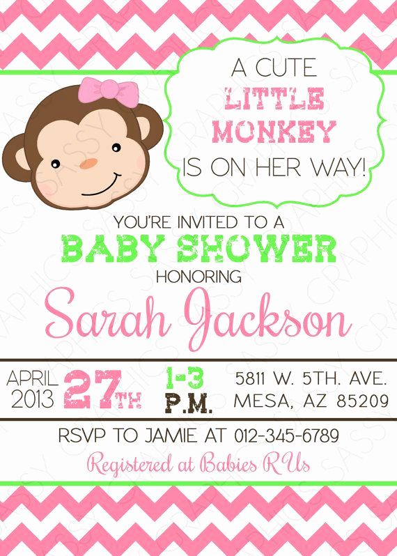 Monkey Baby Shower Invitation Templates Beautiful 25 Best Ideas About Baby Shower Monkey On Pinterest