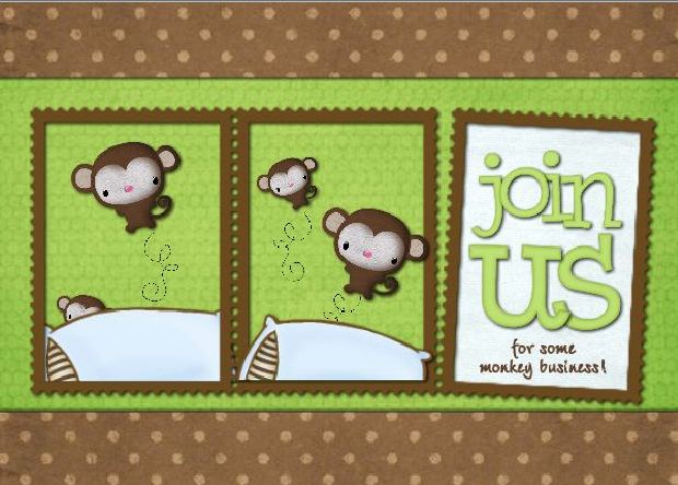 Monkey Baby Shower Invitation Templates Beautiful Make the Best Of Your Nest New Templates Added This Week