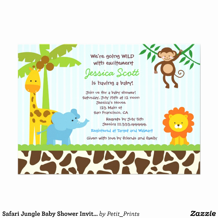 Monkey Baby Shower Invitation Templates Beautiful Monkey Baby Shower Invitations Template