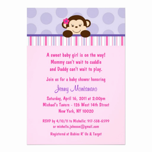 Monkey Baby Shower Invitation Templates Elegant Monkey Baby Shower Invites 2 000 Monkey Baby Shower