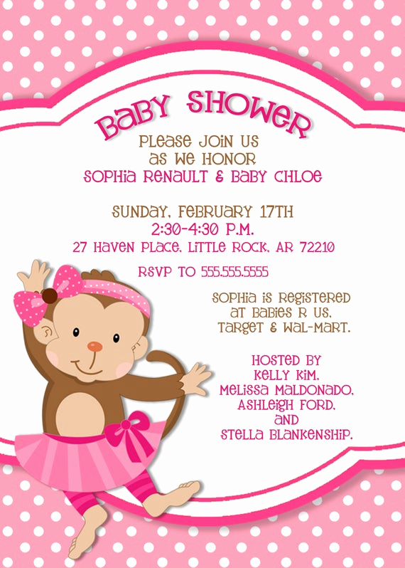Monkey Baby Shower Invitation Templates Fresh Items Similar to Monkey Baby Shower Invitation 5x7