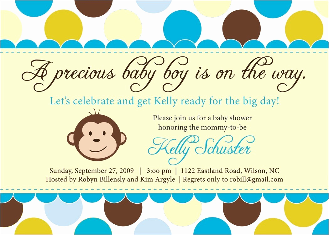 Monkey Baby Shower Invitation Templates New Monkey Baby Shower Invitation Ideas
