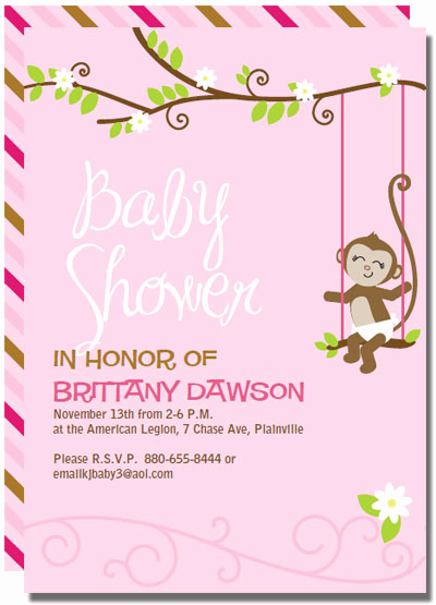 monkey baby shower invitations templates