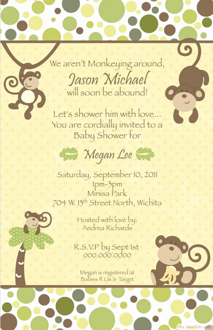 Monkey Invitation Templates Free Awesome Pin by Melva Scales On Projects to Try