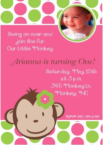Monkey Invitation Templates Free Elegant Free Printable Monkey Birthday Invitations