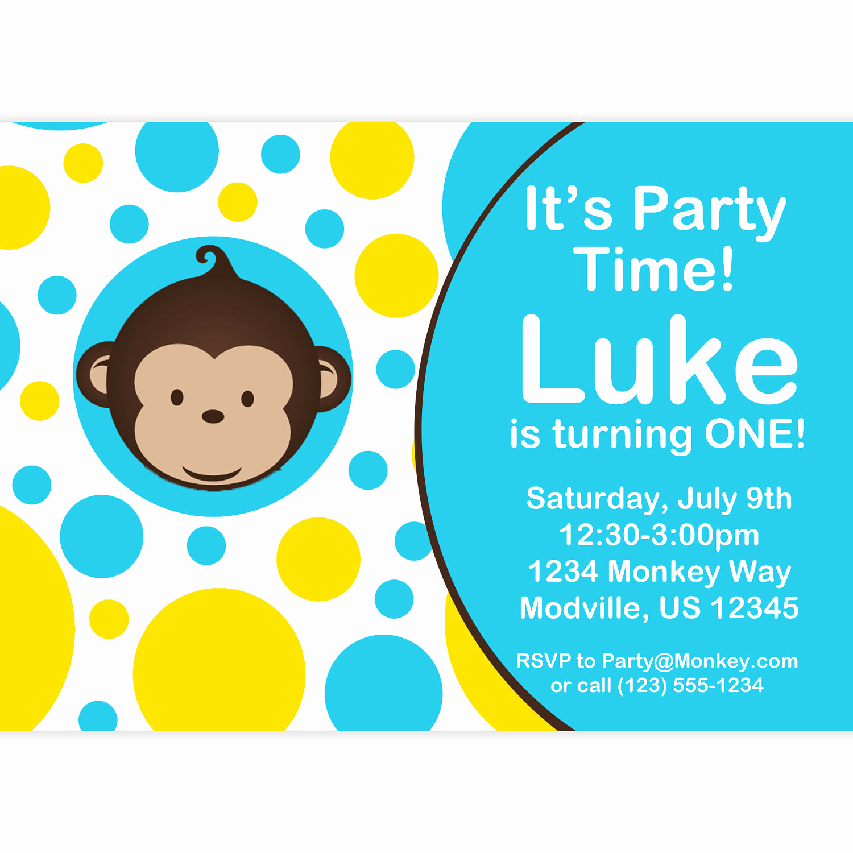 Monkey Invitation Templates Free Fresh Monkey Love Party Invitations
