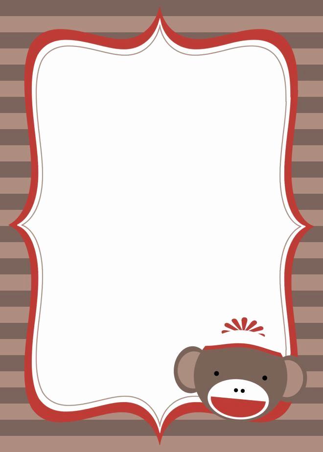 Monkey Invitation Templates Free Fresh Shock Monkey Baby Shower Invitation