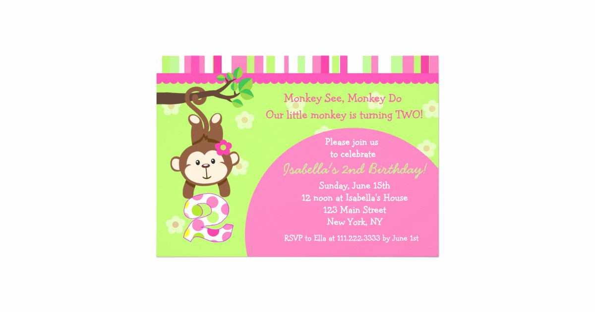 Monkey Invitation Templates Free Inspirational 49 Second Birthday Rhymes for Invitations Pics B9q