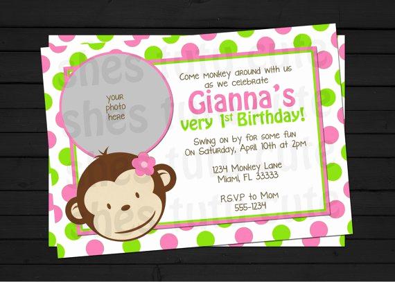 Monkey Invitation Templates Free Luxury Mod Monkey Invitation Templates