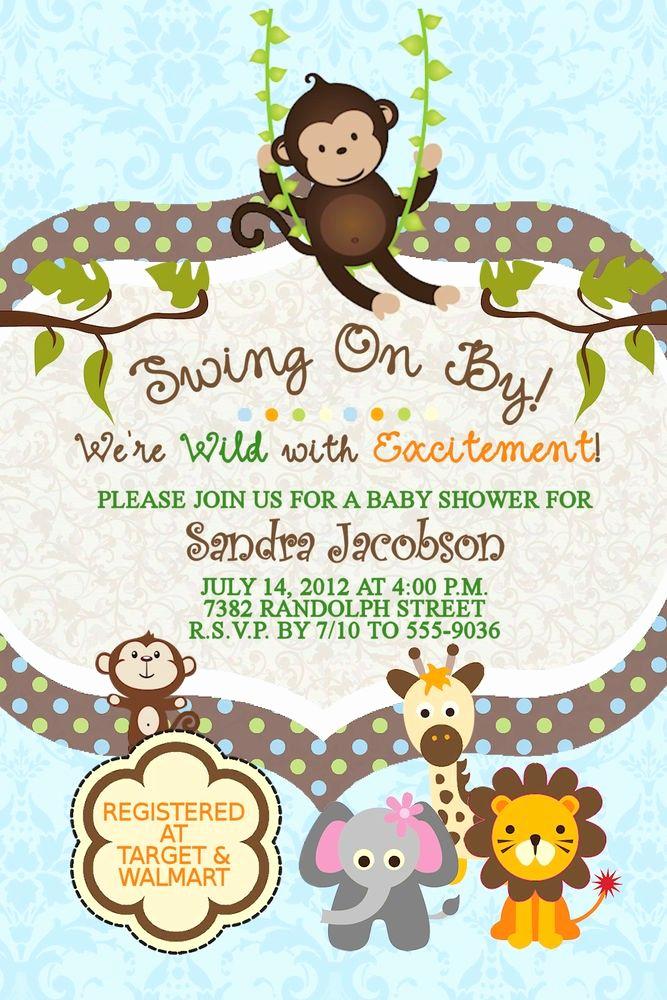 Monkey Invitation Templates Free Unique Best 25 Baby Shower Monkey Ideas On Pinterest