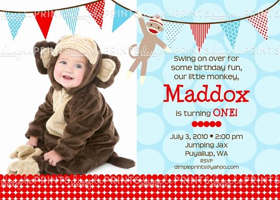 Monkey Invitation Templates Free Unique sock Monkey Birthday Invitations Templates – Free